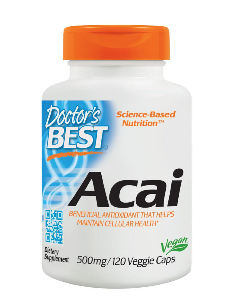 Best Acai, 500 mg, 120 veggie caps, Doctor's Best