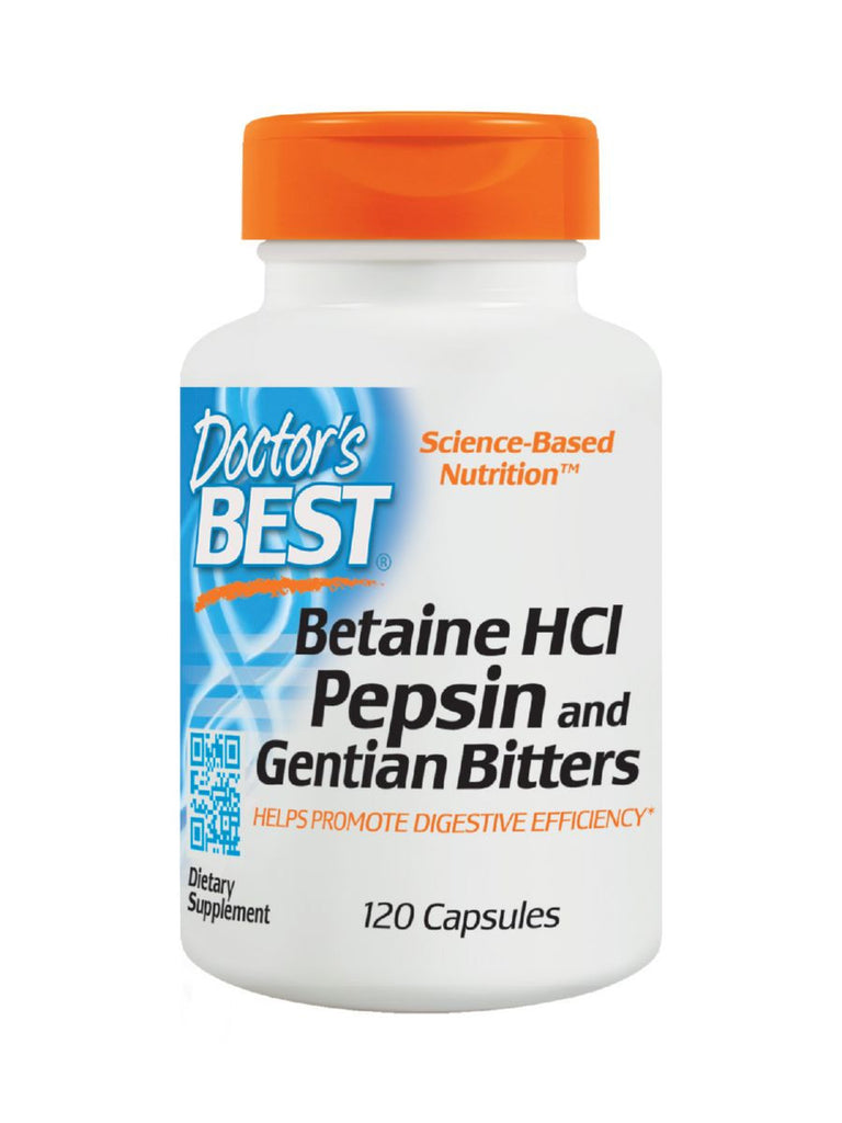 Betaine HCl Pepsin & Gentian Bitters, 120 ct, Doctor's Best