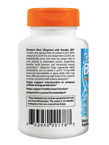 Doctor's Best, Ubiquinol featuring Kanekas QH, 50mg, 90 soft gels