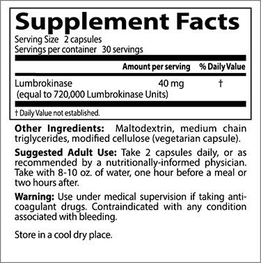 Doctor's Best, Lumbrokinase, 20mg, 60 ct