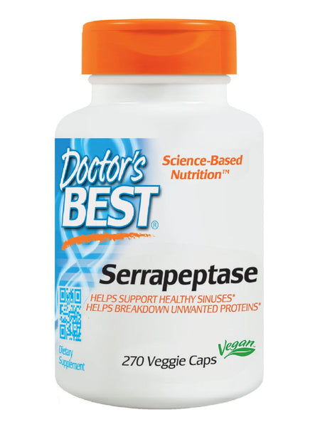 Best Serrapeptase, 40,000 Units, 270 veggie caps, Doctor's Best