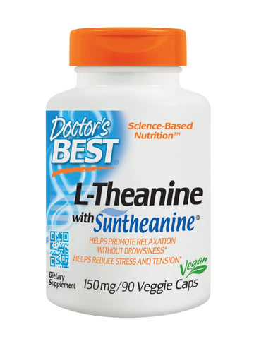 Suntheanine, 150mg, 90 veggie caps, Doctor's Best