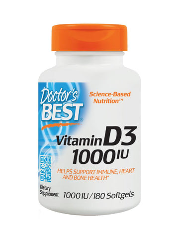 Best Vitamin D3, 1000IU, 180 soft gels, Doctor's Best
