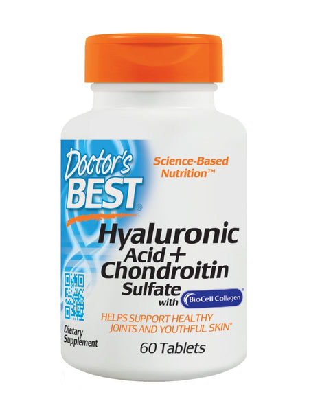 Doctor's Best, Hyaluronic Acid with Chondroitin Sulfate, 60 tabs