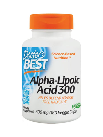 Best Alpha-Lipoic Acid, 300 mg, 180 veggie caps, Doctor's Best