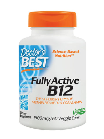 Doctor's Best, Fully Active B12, 1500 mcg, 60 veggie caps