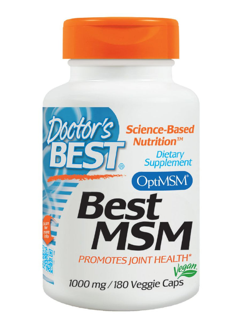 Doctor's Best, MSM, 1000 mg, 180 veggie caps