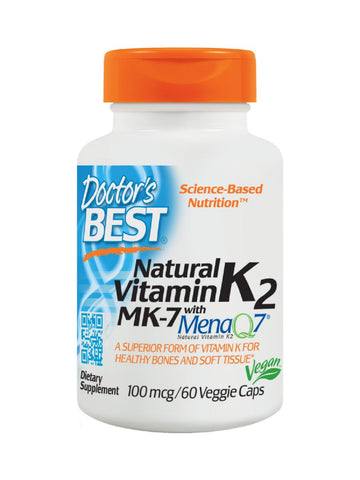Doctor's Best, Vitamin K2, 100 mcg, 60 veggie caps