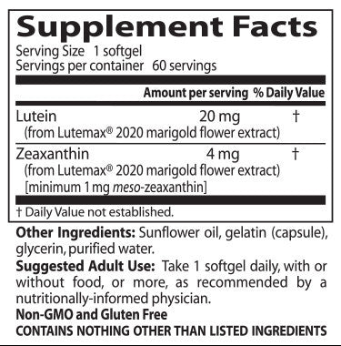 Doctor's Best, Lutein with Lutemax, 60 softgels