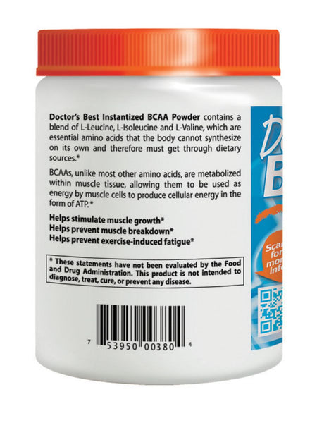 Doctor's Best, Instantized BCAA Powder, 300 grams