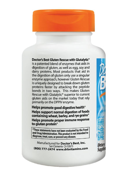 Doctor's Best, Gluten Rescue with Glutalytic, 60 veggie caps