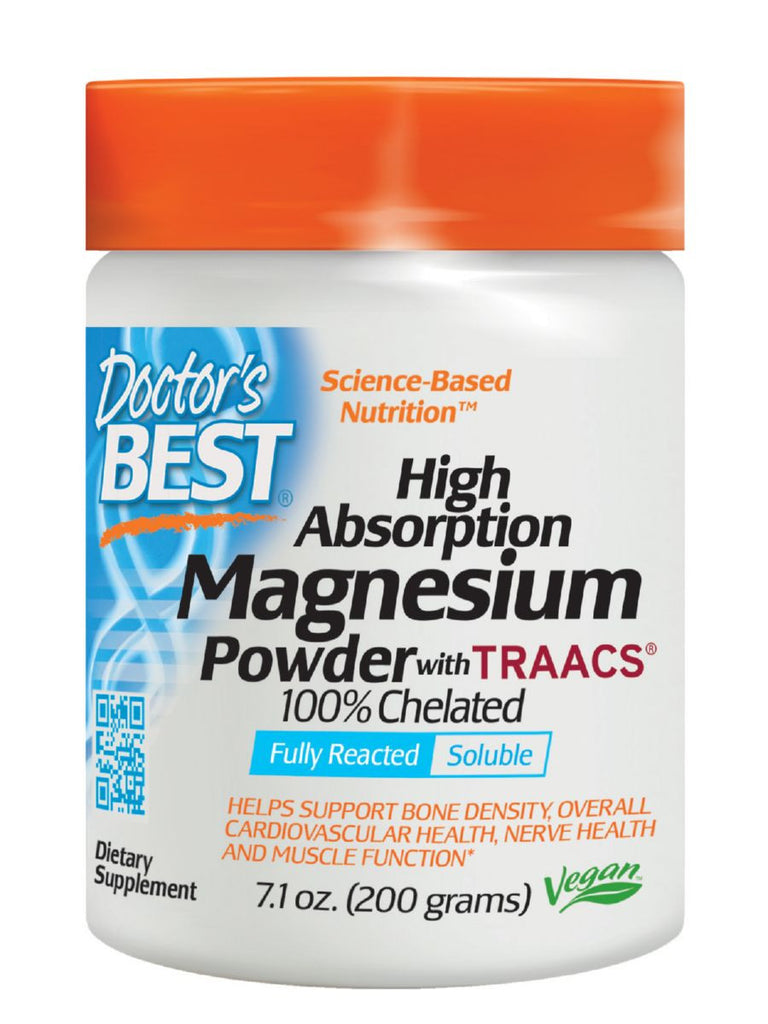 Doctor's Best, High Absorption 100% Chelated Magnesium Powder, 200 grams