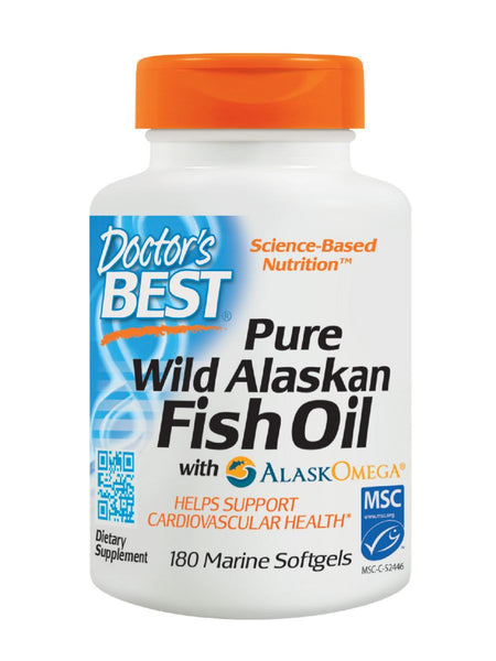 Doctor's Best, Alaskan Fish Oil, 180 softgels