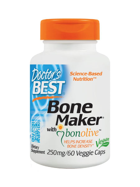 Doctor's Best, Bone Maker with Bonolive, 250 mg, 60 veggie caps