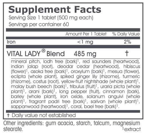 VPK, Vital Lady, 60 tablets