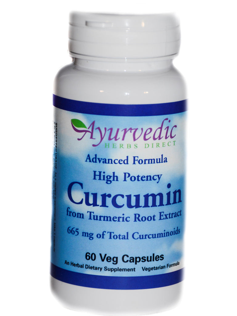 Advanced Formula Turmeric, Curcumin Extract, 60 ct, Ayurvedic Herbs Direct