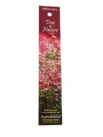 Auroshikha, Incense Saffron Spice, 10 g, 14 sticks