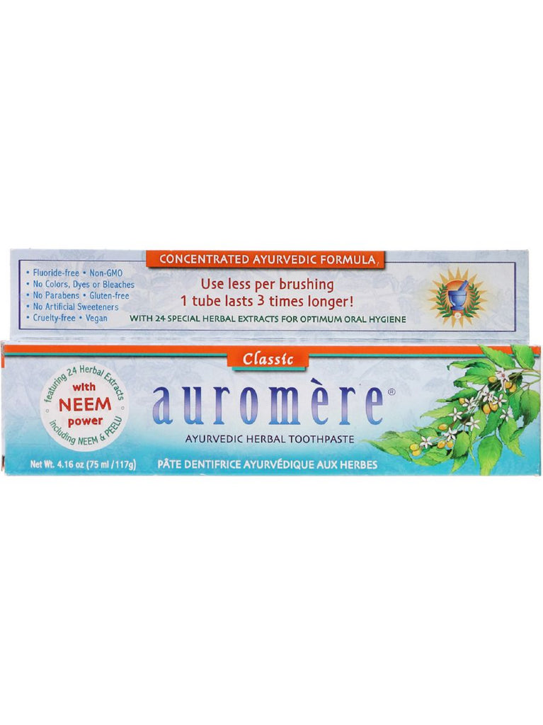 Herbal Toothpaste, Classic, 4.16 oz, Auromere