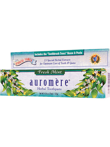 Herbal Toothpaste, Fresh Mint, 4.16 oz, Auromere