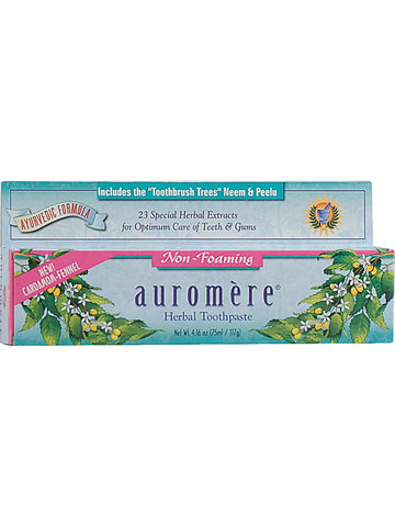 Herbal Toothpaste, SLS-Free Non-Foaming, 4.16 oz, Auromere