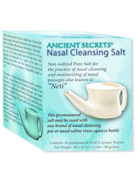 Nasal Cleansing Salt, 40 packets, Ancient Secrets