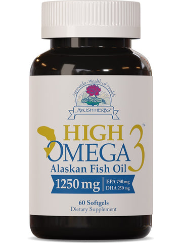 Ayush Herbs, High Omega 3 Fish Oil, 60 softgels