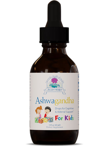 Ayush Herbs, Ashwagandha Drops for Kids, 2 fl oz, 60 ml