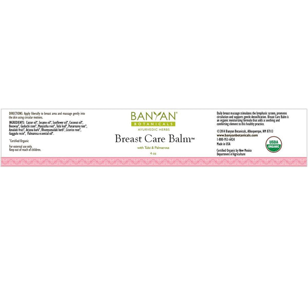 Banyan Botanicals, Breast Care Balm, 4 oz