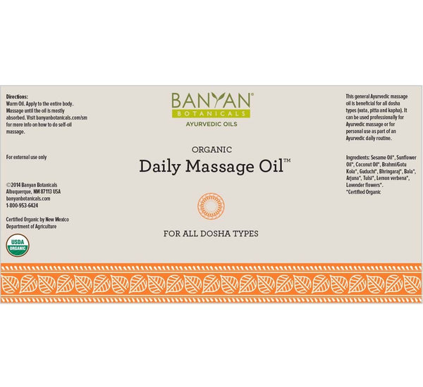 Banyan Botanicals, Daily Massage Oil, 12 fl. oz
