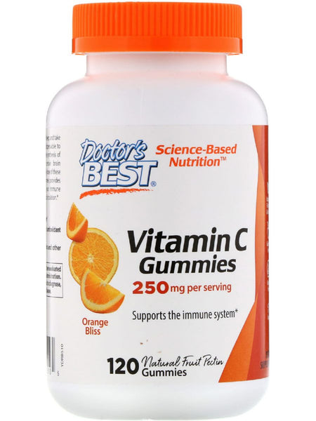 Doctor's Best, Vitamin C Gummies, 500 mg, 120 grams
