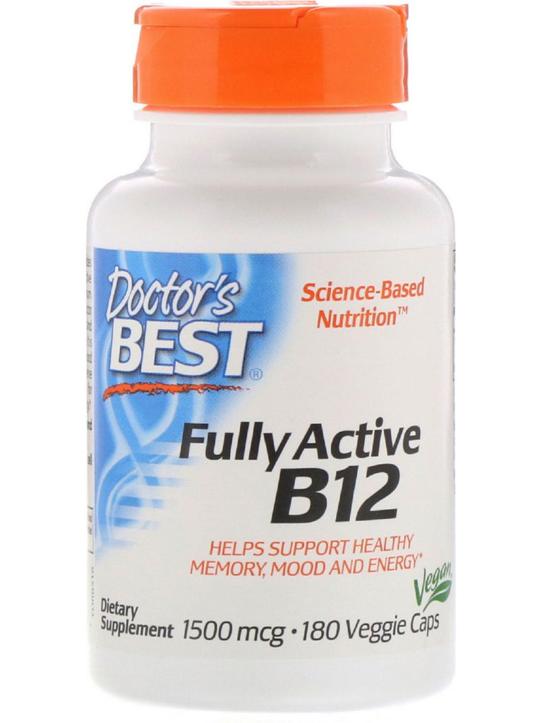 Doctor's Best, Fully Active B12, 1500 mcg , 180 vegicaps