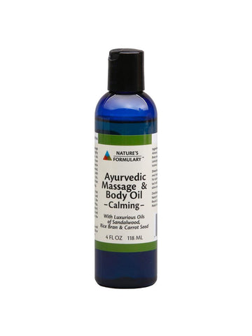 Ayurvedic Massage Oil Calming, 4 oz, Nature's Formulary