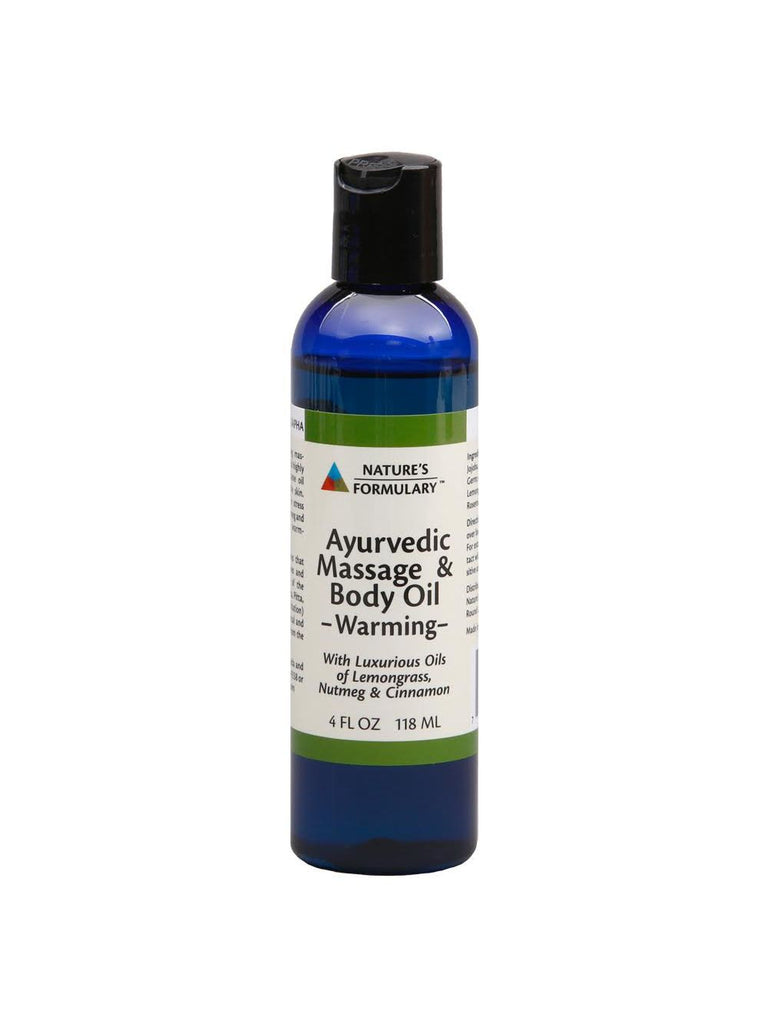 Ayurvedic Massage Oil Warming, 4 oz, Nature's Formulary