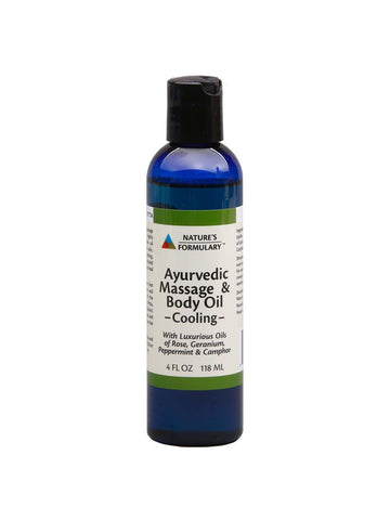 Ayurvedic Massage Oil Cooling, 4 oz, Nature's Formulary