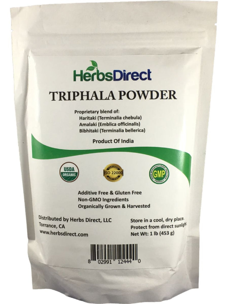Herbs Direct, Triphala Powder, Organic, 1 lb