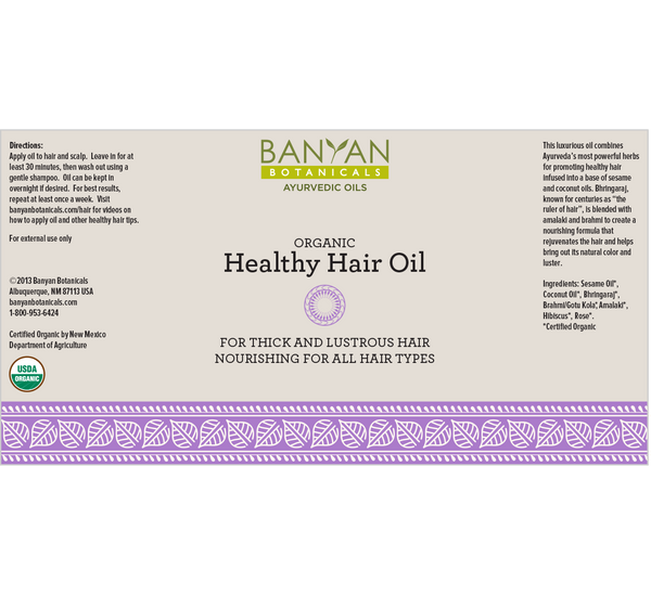 Banyan Botanicals, Healthy Hair Oil, 12 fl oz