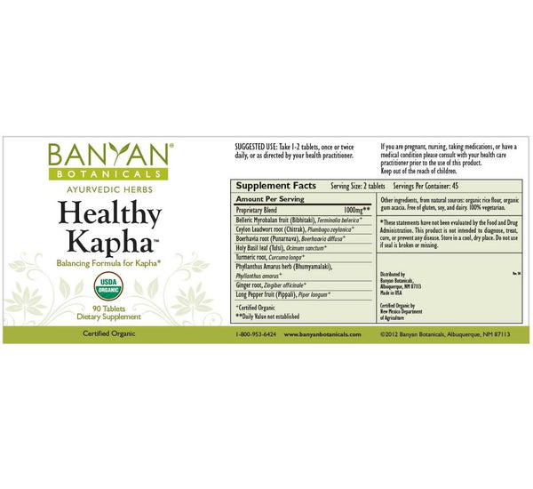 Banyan Botanicals, Healthy Kapha, 90 ct