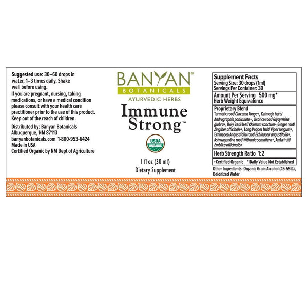 Banyan Botanicals, Immune Strong, Liquid Extract, 1 fl oz, 30 ml
