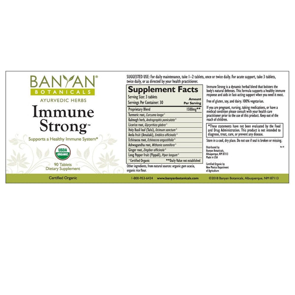 Banyan Botanicals, Immune Strong, 90 ct