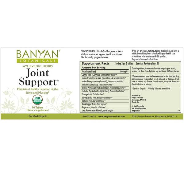 Banyan Botanicals, Joint Support, 90 ct