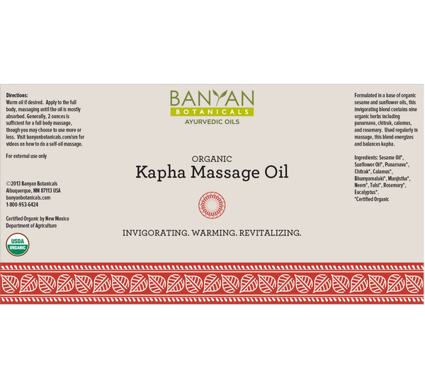 Banyan Botanicals, Kapha Massage Oil, Organic, 34 fl oz