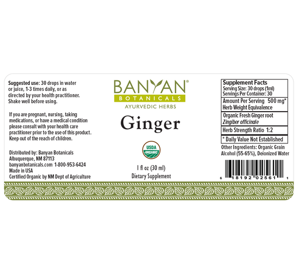 Banyan Botanicals, Ginger, Liquid Extract, 1 fl oz