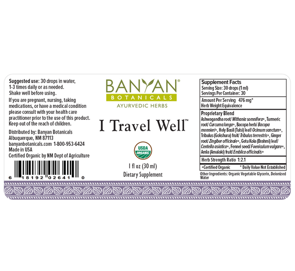 Banyan Botanicals, I Travel Well, Liquid Extract, 1 fl oz