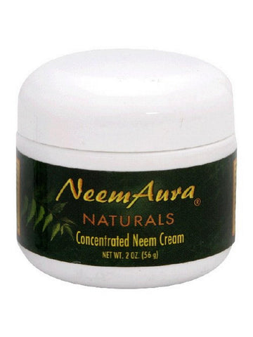 Neem Cream with Aloe Vera (Therapeutic), 2 oz, Neem Aura