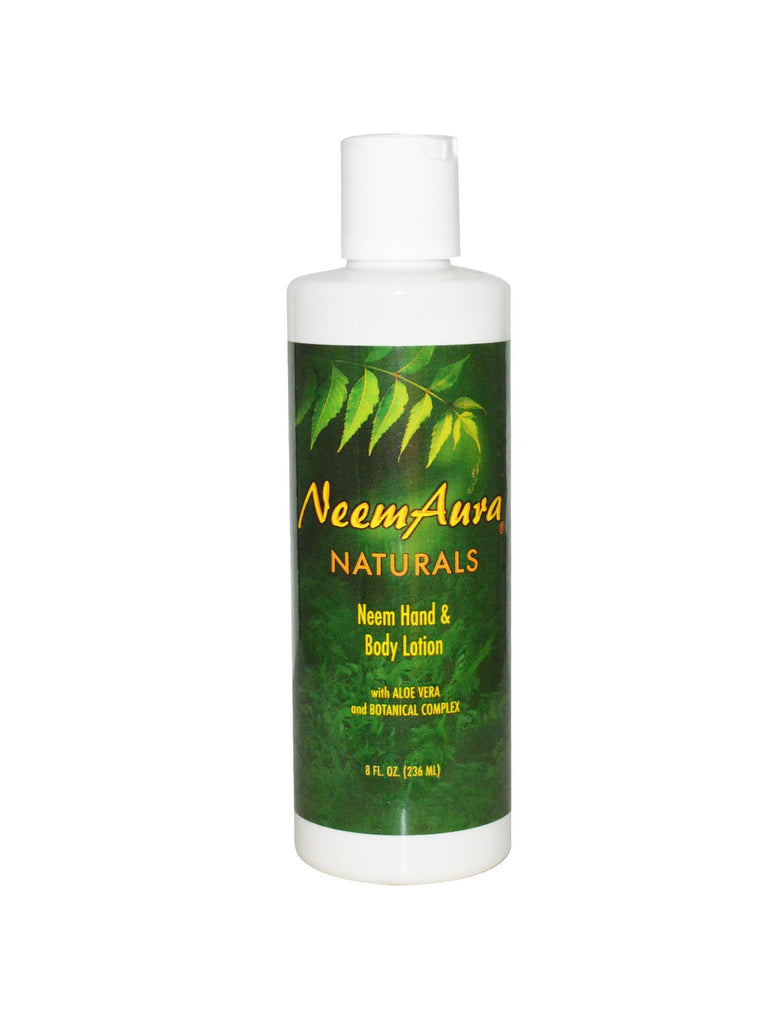 Neem Hand & Body Lotion with Aloe Vera, 8 oz, Neem Aura