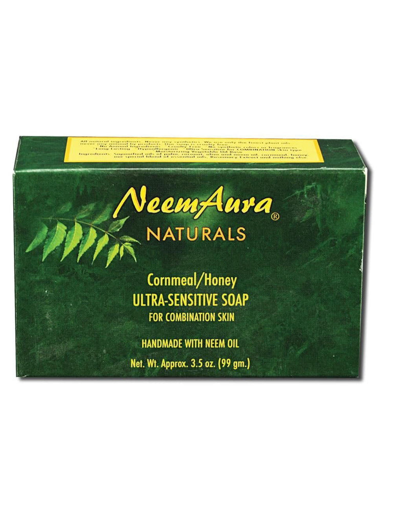 Neem Ultra-Sensitive Soap Cornmeal/Honey (Combo Skin), 1 bar, Neem Aura