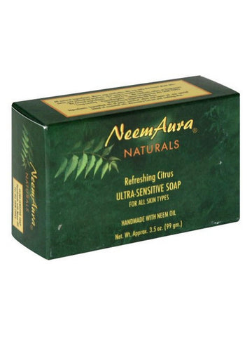 Neem Ultra-Sensitive Soap Lavender/Oatmeal (Normal to Dry Skin), 1 bar, Neem Aura