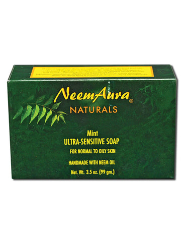 Neem Ultra-Sensitive Soap Mint (Normal to Oily Skin), 1 bar, Neem Aura