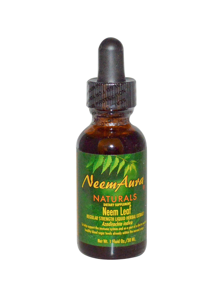 Neem Leaf Extract Regular Strength Organic, 1 oz, Neem Aura