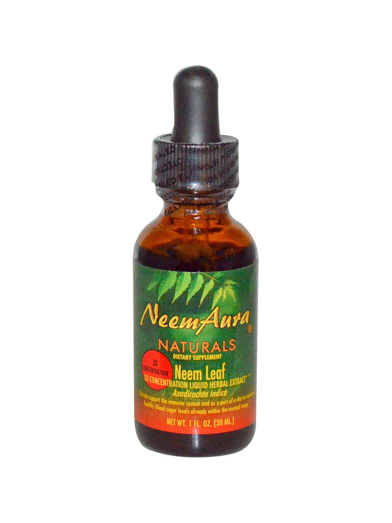 Neem Extract Triple Potency Organic, 1 oz, Neem Aura